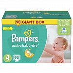 Pampers Active baby, 4, 90 шт